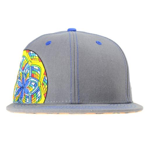 J Red Glass Gray Fitted - Grassroots California - 1