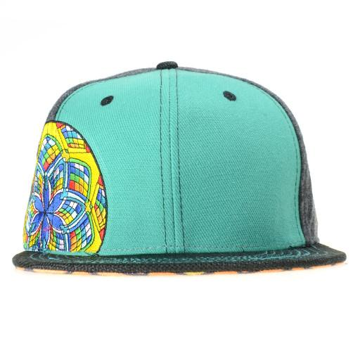 J Red Glass Teal Fitted - Grassroots California - 1
