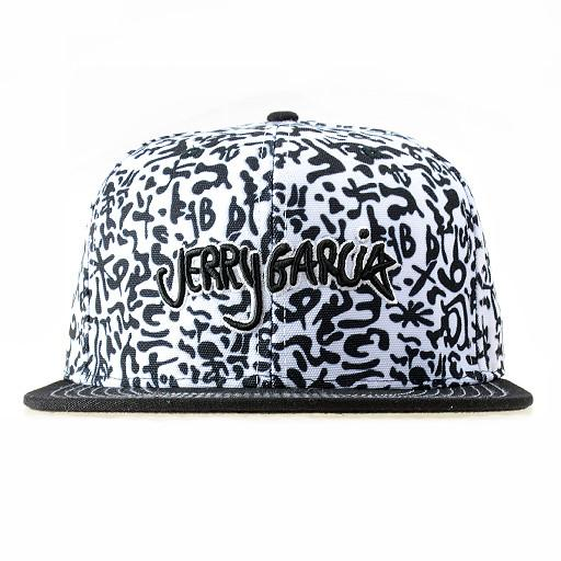Jerry Garcia Black & White Fitted - Grassroots California - 1
