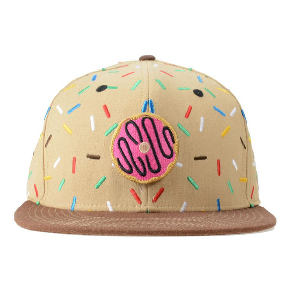 KGB Removable Donut Tan Sprinkles Fitted - Grassroots California