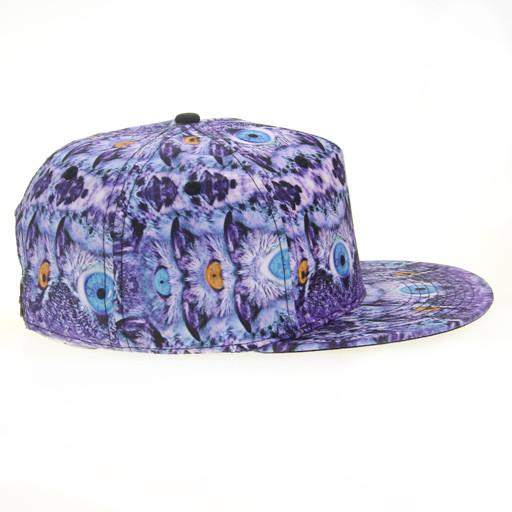 Psychedelic Owl Shallow Snapback - Grassroots California - 2