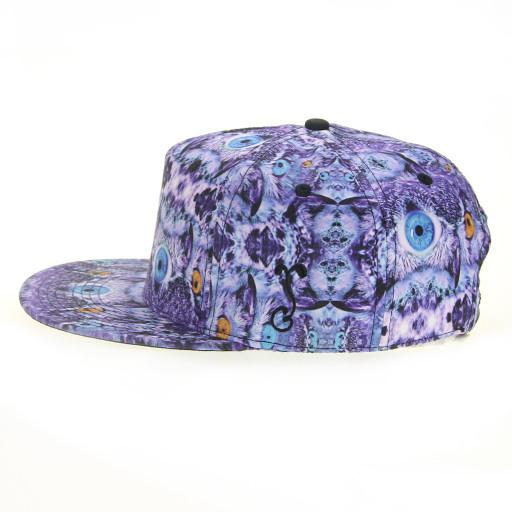 Psychedelic Owl Shallow Snapback - Grassroots California - 3