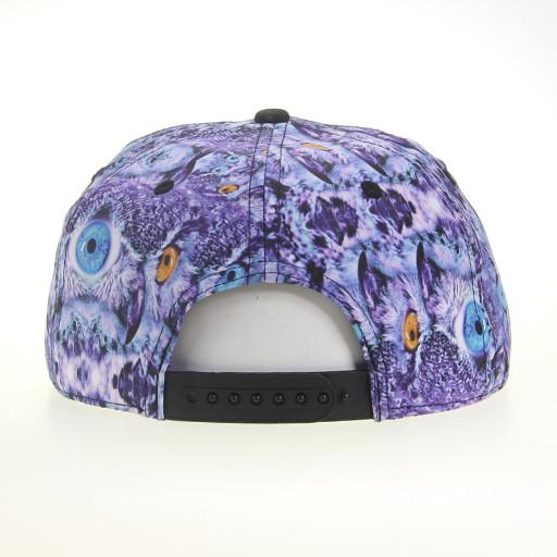 Psychedelic Owl Shallow Snapback - Grassroots California - 4