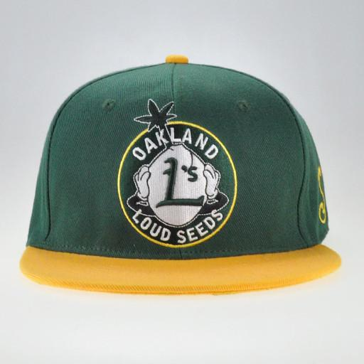 Loud Seeds Green Yellow Snapback - Grassroots California