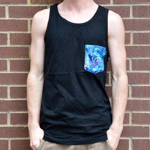 Macro Weed Purple Pocket Tank Black - Grassroots California