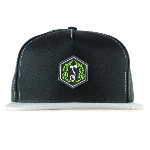 Made in USA Classic Sprout Black Gray Snapback