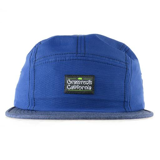 Made in USA Navy 5 Panel Strapback - Grassroots California - 1