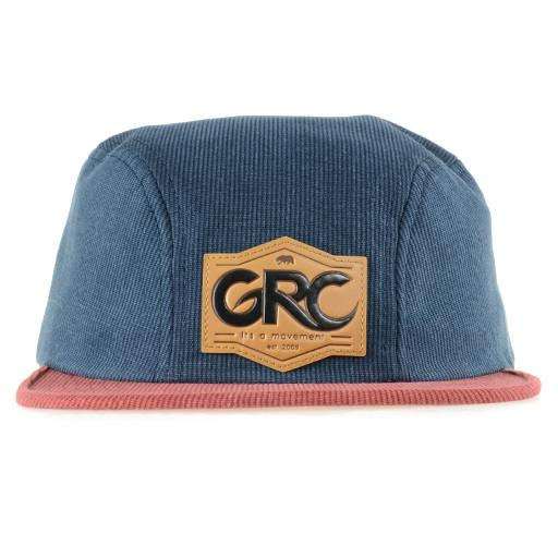 Made in USA Navy Red Corduroy 2 Panel Fitted - Grassroots California - 1