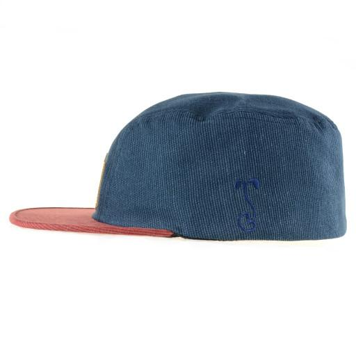 Made in USA Navy Red Corduroy 2 Panel Fitted - Grassroots California - 3