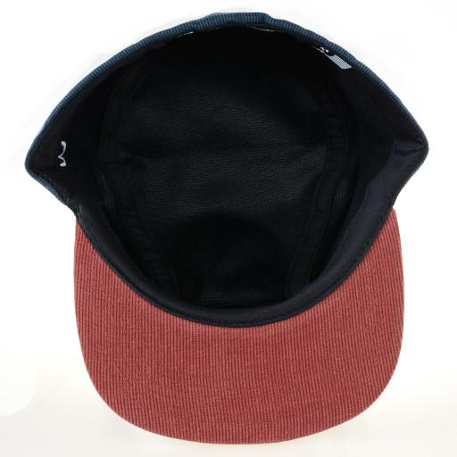 Made in USA Navy Red Corduroy 2 Panel Fitted - Grassroots California - 5
