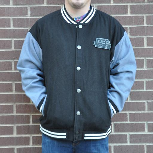 Men's Black Limited Leaf Letterman Jacket