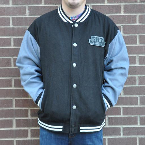 Men's Black Limited Leaf Letterman Jacket - Grassroots California