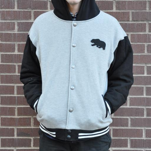 Men's GooBear Black Letterman Jacket - Grassroots California