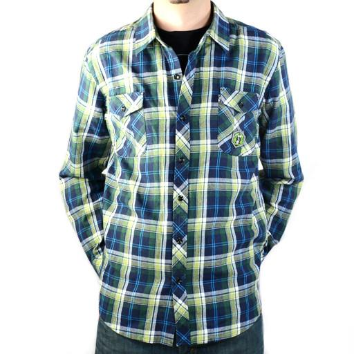 Men's Green Blue Flannel - Grassroots California