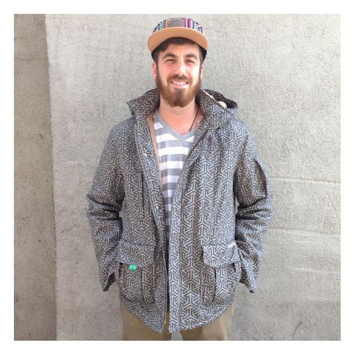 Men's Hemp HoodLamb X GRC Jacket - Gray - Grassroots California
