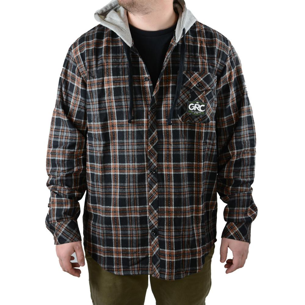 Men 39 s hungry wool hooded flannel grassroots california for Mens wool flannel shirt