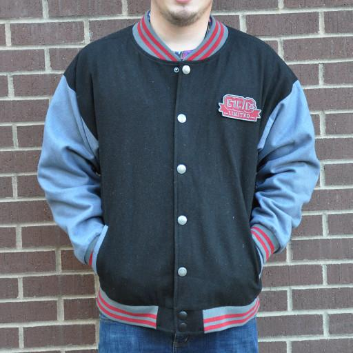 Men's Maroon Limited Leaf Letterman Jacket