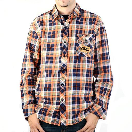 Men's Orange Navy Flannel