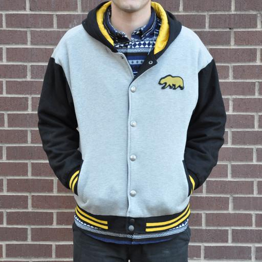Men's Yellow GooBear Letterman Jacket - Grassroots California