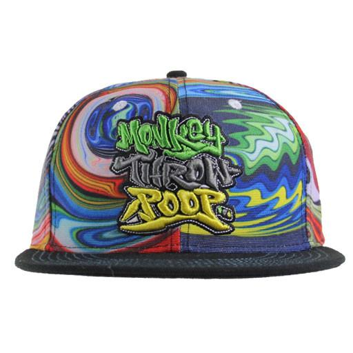 Monkey Throw Poop Glass Mismatch Snapback