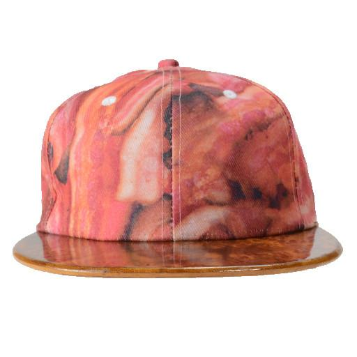 Moon Men Creations Bacon Wood Brim Fitted