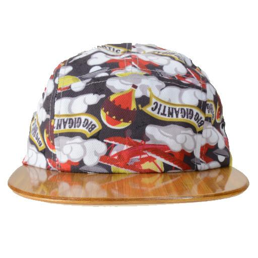 Moon Men Creations Big Gigantic Bamboo Wood Brim 5 Panel Snapback
