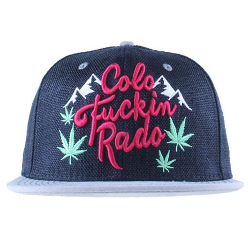 Mountain Division Colofuckinrado Weed Black Snapback - Grassroots California - 1