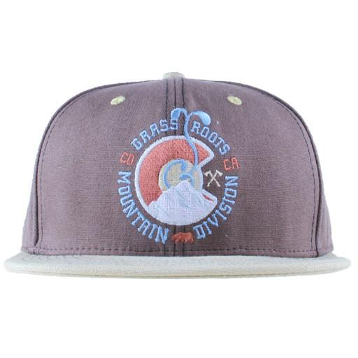 Mountain Division Sprout Badge Brown Snapback