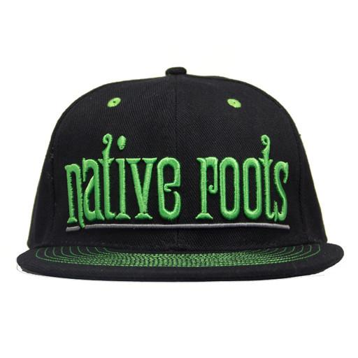 Native Roots Black and Green Fitted