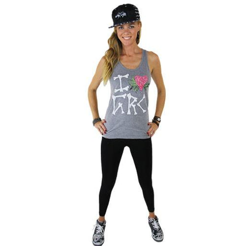 Olive Love Gray Bones Tank Top - Grassroots California