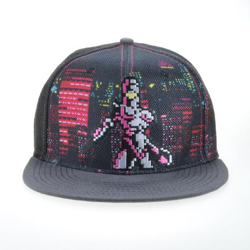 Paisley Moon Pink 8 Bit Fitted