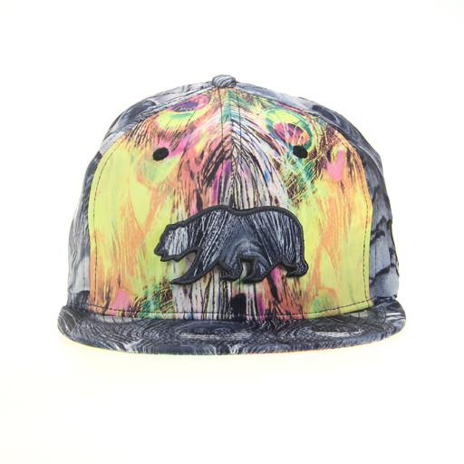 Removable Bear Peacock Strapback