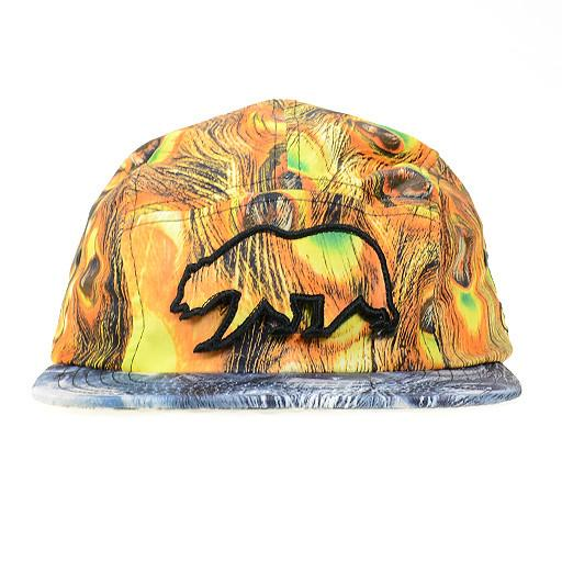 Removable Bear Peacock 5 Panel Snapback