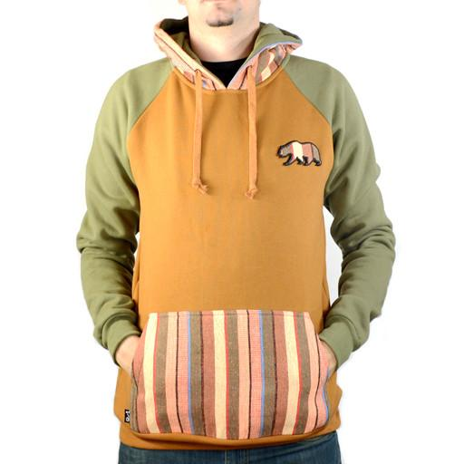 Bear Collection Brown Tweed Unisex Pullover Hoodie - Grassroots California - 1