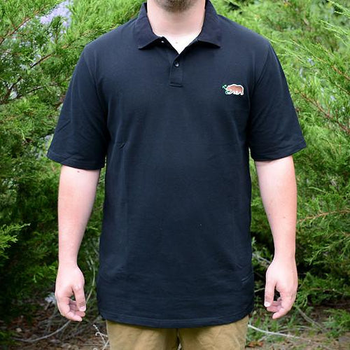Black Bear Sprout Collared Shirt - Grassroots California