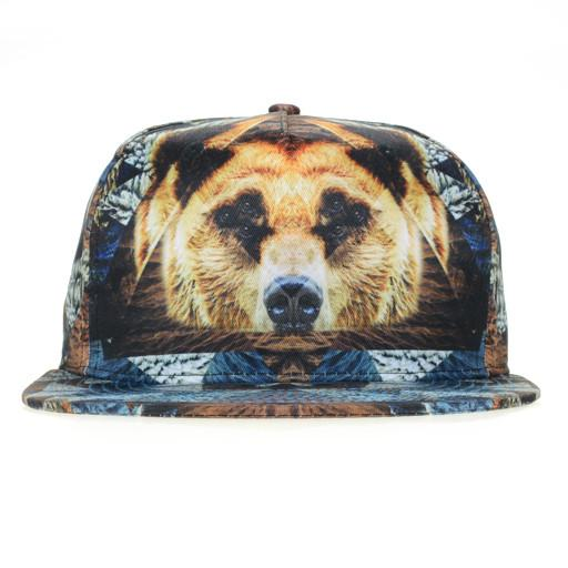 Psychedelic Bear Shallow Fitted