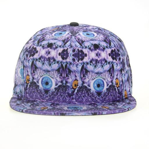 Psychedelic Owl Shallow Fitted