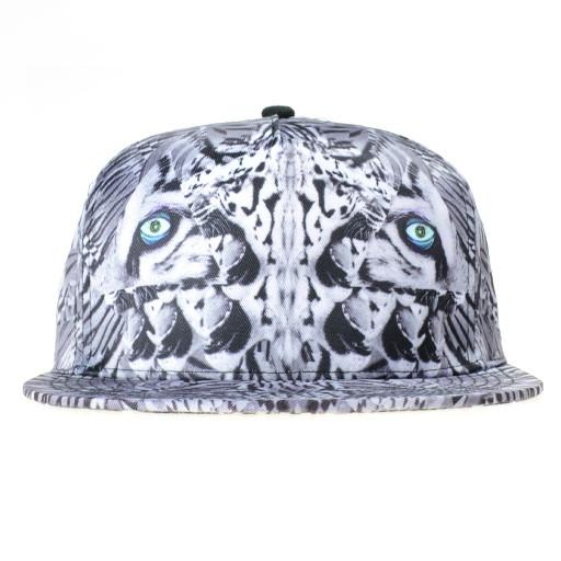 Psychedelic Tiger Gray Shallow Fitted