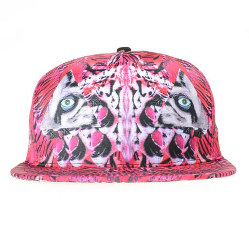 Psychedelic Tiger Pink Shallow Snapback