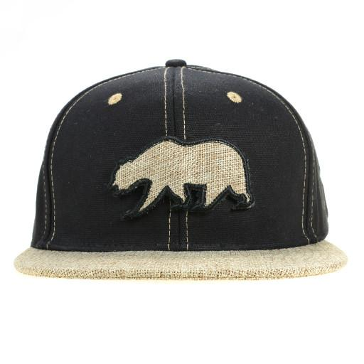 Removable Bear 2015 Simple Black Hemp Fitted