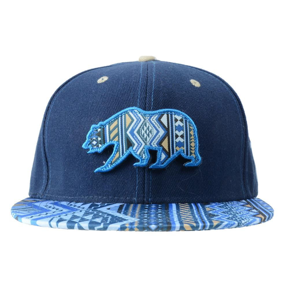 Removable Bear Blue Aztec Fitted