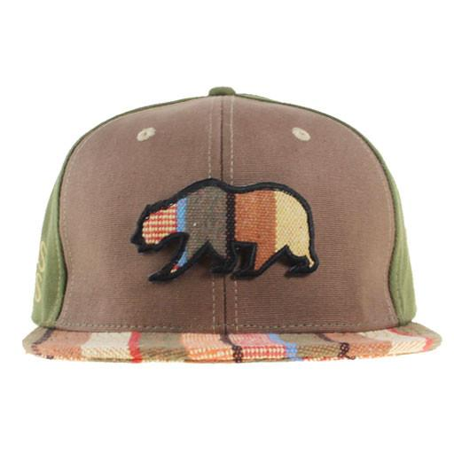 Removable Bear Brown Tweed Stripe Fitted - Grassroots California - 1