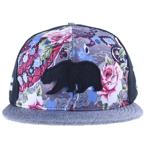 Removable Bear Floral Paisley Blue Fitted