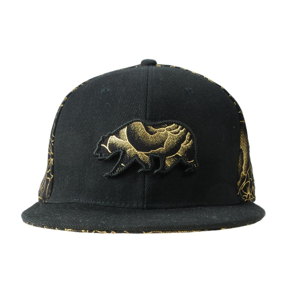 Removable Bear Gold Rose Strapback