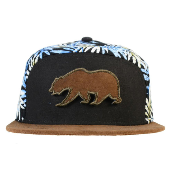 Removable Bear Hangroots Palm Tree 6 Panel Strapback - Grassroots California - 1