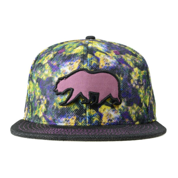 Removable Bear Oil Paint Weed Snapback - Grassroots California - 1