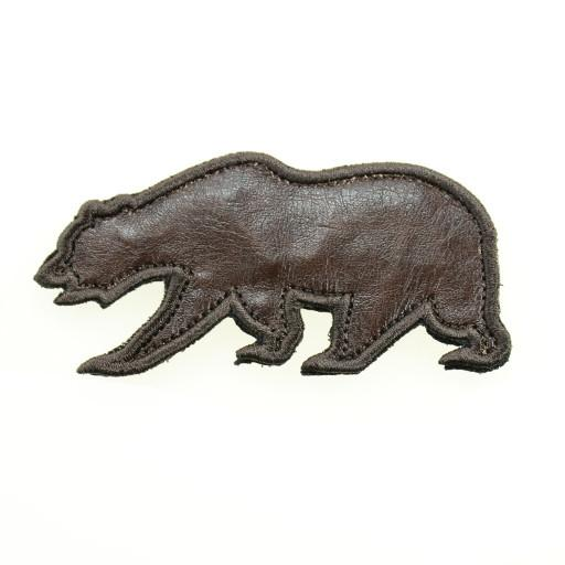 Removable Bear Patch OG Bears - Brown Leather Bear