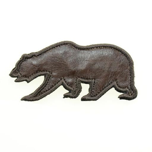 Removable Bear Patch OG Bears - Brown Leather Bear - Grassroots California