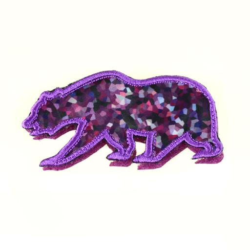Removable Bear Patch Purple Crystals