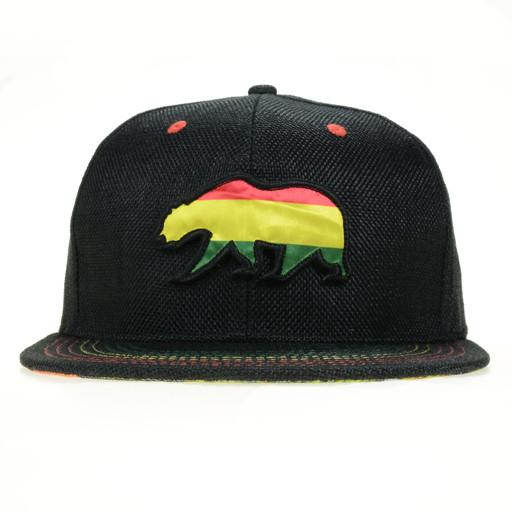 Removable Bear Rasta Snapback